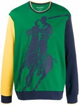 Polo Ralph Lauren толстовка в стиле колор-блок с логотипом 710761080