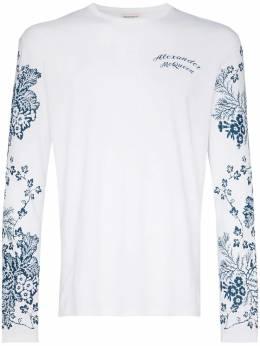 Alexander McQueen футболка с цветочным принтом 599562QOZ68