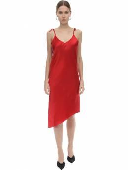 Платье Миди Из Атласа Marques'Almeida 71ICCJ026-UkVE0