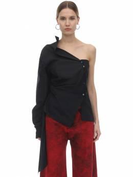 Рубашка Из Хлопка Поплин Marques'Almeida 71ICCJ020-QkxBQ0s1
