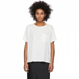 T By Alexander Wang White Tilted Pocket T-Shirt 4CC1201075