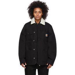 """Carhartt Work In Progress Black Fairmount Coat I02?""""5444 8900"""