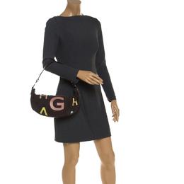 Givenchy Dark Brown Nubuck and Leather Half Moon Hobo 244207