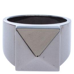 Valentino Rockstud Gunmetal Tone Ring Size 62 245957