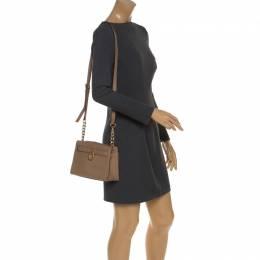 MICHAEL Michael Kors Brown Leather Small Hamilton Crossbody Bag 243713