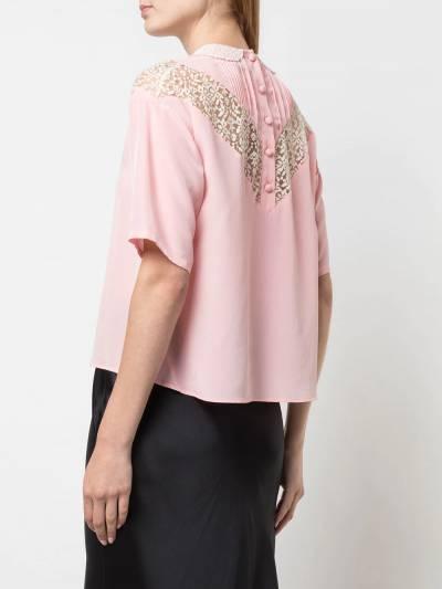 Marc Jacobs блузка с кружевом V6000019680 - 4