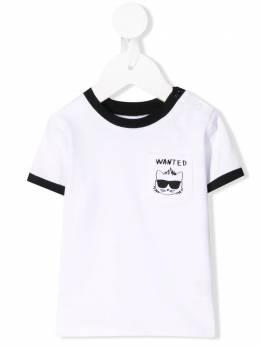 Karl Lagerfeld Kids футболка Bad Boy с карманом Z95046