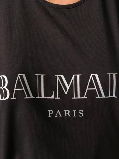 Balmain топ с логотипом спереди PF01005I015 - 5