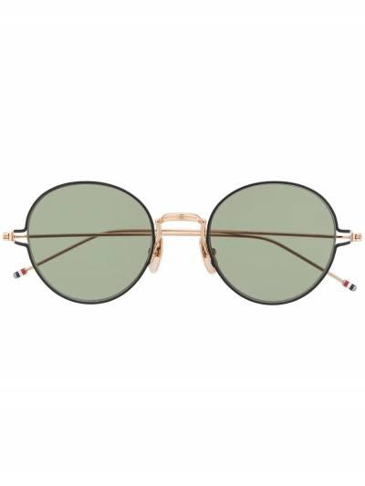 Thom Browne Eyewear солнцезащитные очки в круглой оправе TBS915 - 1