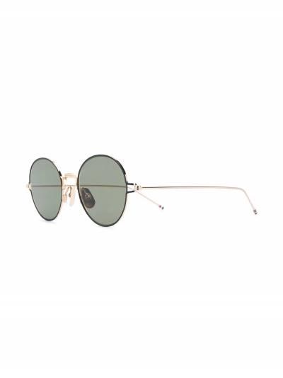 Thom Browne Eyewear солнцезащитные очки в круглой оправе TBS915 - 2