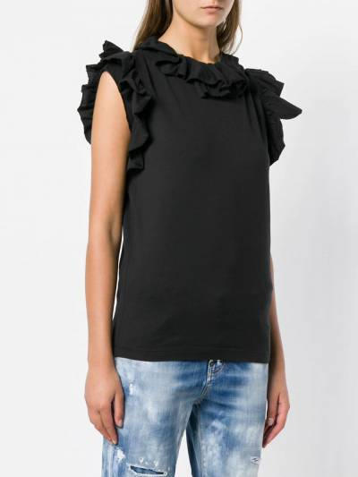Dsquared2 ruffle-trimmed top S72GD0101S22427 - 3