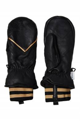 Варежки из черной кожи с графичными вставками Roxy 2750163842