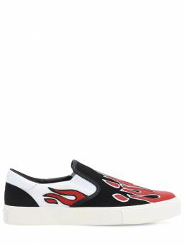 Flame Cotton Canvas Slip-on Sneakers Amiri 71IWUE017-QldS0