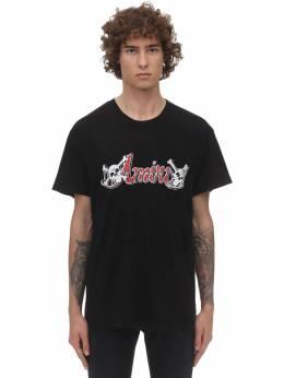 Print Mötley Crüe Cotton Jersey T-shirt Amiri 71IWUE013-QkxL0