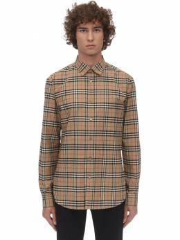Рубашка Из Хлопка Поплин С Принтом Burberry 71IJSJ099-QTcwMjg1
