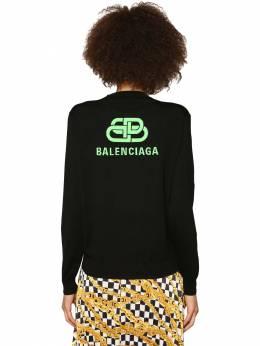 Шерстяной Свитер С Интарзийным Логотипом Balenciaga 71IIUU061-NjA3Ng2