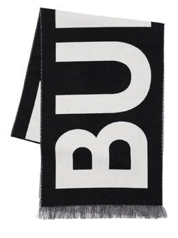 Шарф С Принтом Логотипа Burberry 71ID1H067-QTExODk1