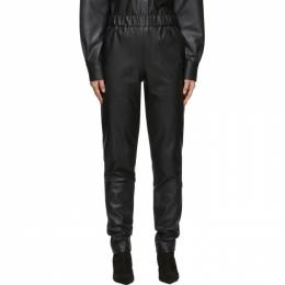 Tibi Black Faux-Leather Pull-On Trousers R119FL3025