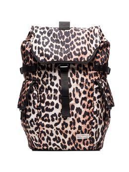 Ganni рюкзак с леопардовым принтом A2354