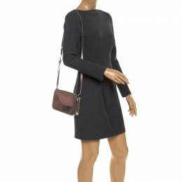 Tory Burch Metallic Grey Patent Leather Flap Crossbody Bag 245649