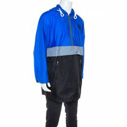 Burberry Blue Nylon Lakebridge Hooded Jacket M 246166