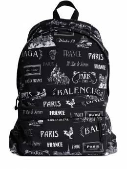 All Over Printed Nylon Backpack Balenciaga 71IOFX012-MTA5MA2