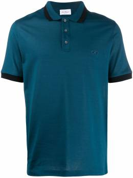 Salvatore Ferragamo рубашка-поло с вышитым логотипом 723447
