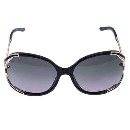 Roberto Cavalli Black/Grey 669S Clerodendro Oversized Round Sunglasses 246195