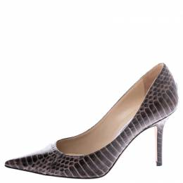 Jimmy Choo Brown Python Leather Romy Pumps Size 35