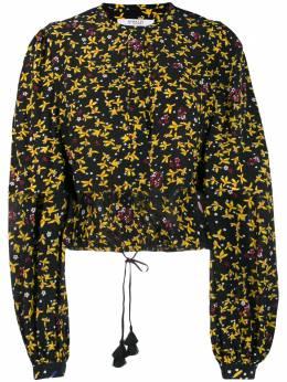 10 Crosby Derek Lam укороченная блузка Aster с цветочным узором TR01740JF