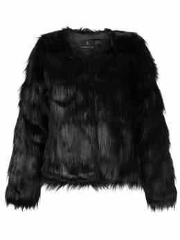 Unreal Fur приталенная фактурная шуба URF8100315BLK