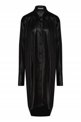 Черное платье-рубашка T By Alexander Wang 368166752