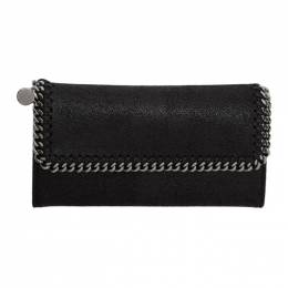 Stella McCartney Black Falabella Flap Wallet 430999W9132