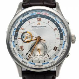 Maurice Lacroix Masterpiece Tradition Stainless Steel Worldtimer Automatic Men'S Watch 42MM