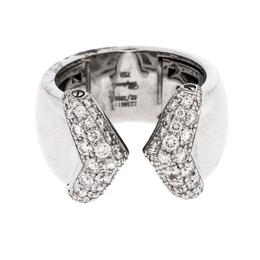 Chopard Diamond 18k White Gold Ring Size 54.5 297978