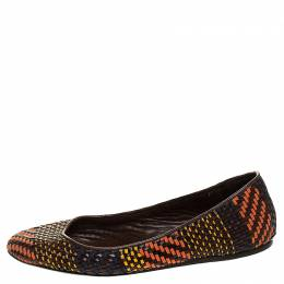 Burberry Multicolor Woven Leather Ballet Flat Size 38.5 247726