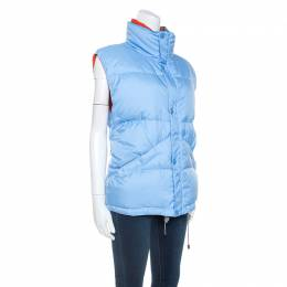 Louis Vuitton Blue Nylon Sleeveless Puffer Jacket XXL 246253