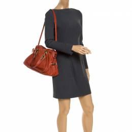 Chloe Orange Leather Medium Paraty Shoulder Bag 242967