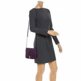 Furla Purple Leather Globetrotter Bandoliera Crossbody Bag 243789