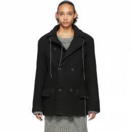 Maison Margiela Black Wool Herringbone Jacket S29AM0310 S49518