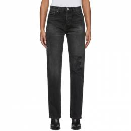 Re/Done Black High-Rise Loose Jeans 198-3WHRL