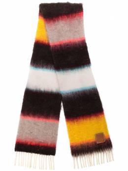 Loewe трикотажный шарф с полосками 91010068