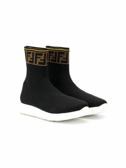Fendi Kids кроссовки-носки с логотипом FF JMR322A62L