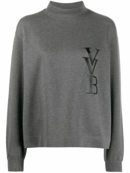 Victoria, Victoria Beckham джемпер с логотипом и воротником-воронкой 2120JSS000483A