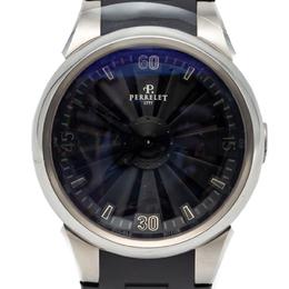 Perrelet Black Turbine Stainless Steel Automatic Men'S Watch 44MM