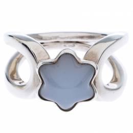 Montblanc Cabochon de Montblanc Milky Quartz Silver Ring Size 50 245661