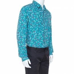 Salvatore Ferragamo Multicolor Cactus Printed Cotton Long Sleeve Shirt XL 247736