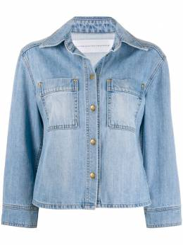 Victoria, Victoria Beckham джинсовая куртка с укороченными рукавами 2120DJK000855A