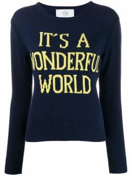 Alberta Ferretti джемпер Wonderful World с круглым вырезом 09421603