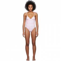 Solid And Striped Pink and White Tie-Dye The Olympia One-Piece Swimsuit S022-4294RE3